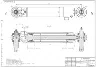 Гидроцилиндр рулевой Ц50-3405215А (с пальцами) МТЗ-80